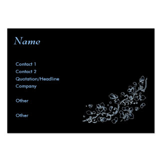 Business card, Black , ethereal Large Business Cards (Pack Of 100)