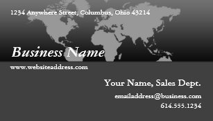 Black world map business cards templates zazzle business card black grey world map design 4 gumiabroncs Choice Image