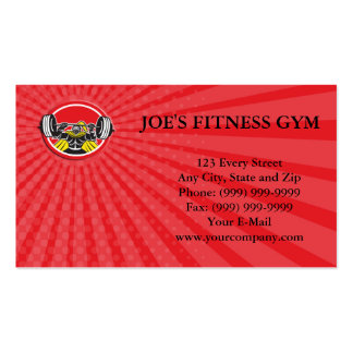 Business card Black Knight Lifting Barbell Front C