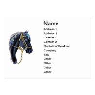 Business Card, Black Peruvian Horse