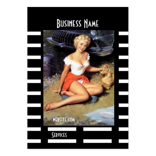 Pin up girl business card templates page3 bizcardstudio business card black pin up girl vintage retro colourmoves