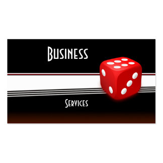 Business Card Black Red White Dice