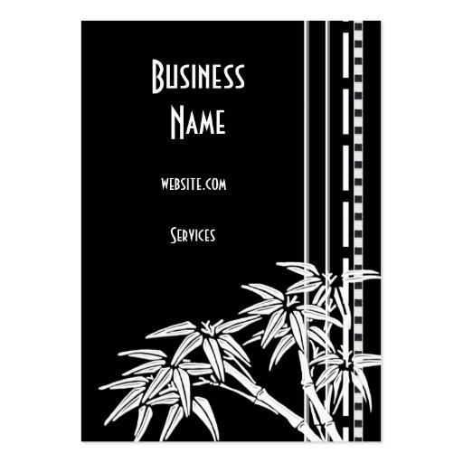 Business Card Black White Asian Bamboo Business Card