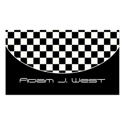 Business Card :: Black & White Checkered D2