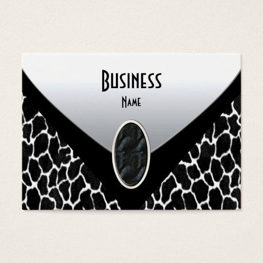 Business Card Black White Cow Purse