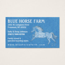 Business Card - Blue Backround White Horse