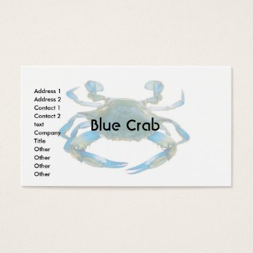 Professional Business Business Card Blue Crab