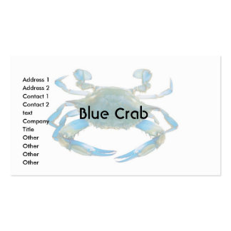 Business Card Blue Crab