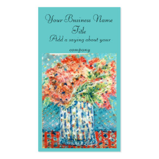 Business Card...Blue Flowers