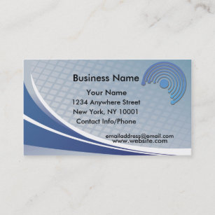 Half circle business cards templates zazzle business card blue half circle colourmoves