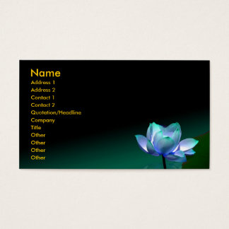 Business card, Blue lotus and buddha Business Card