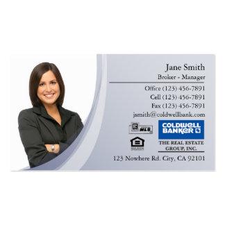 Business Card: Blue Photo