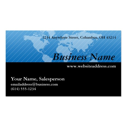 business card map