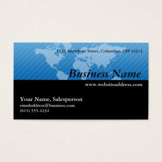 Business Card :: Blue World Map Design 1
