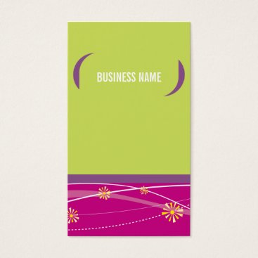 Professional Business BUSINESS CARD bold bright brackets lime pink plum