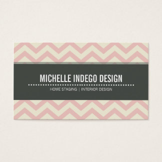 BUSINESS CARD bold bright chevron pattern