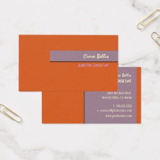 Business Card, bold {customizable background} Business Card