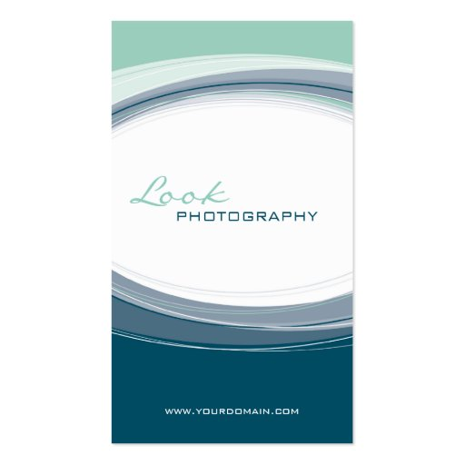 BUSINESS CARD bold modern curve mint green