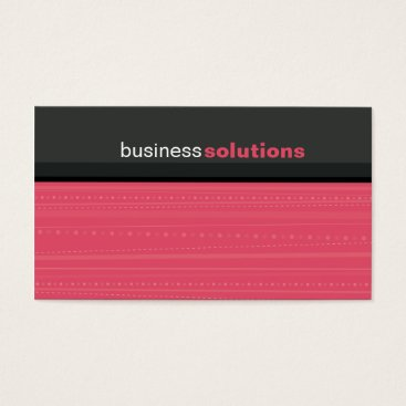Professional Business BUSINESS CARD bold modern linear coral pink grey
