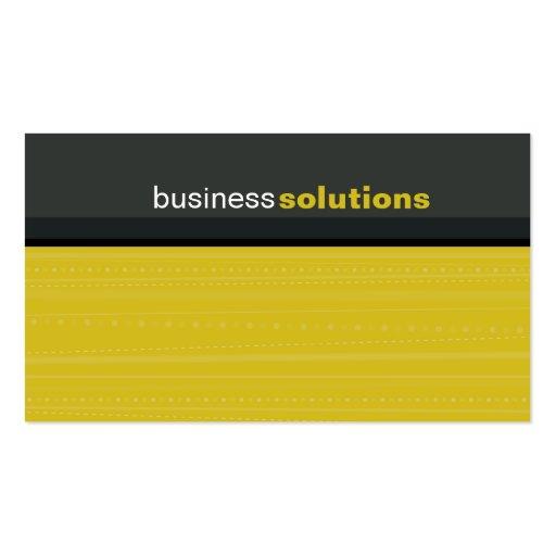 BUSINESS CARD bold modern linear mustard grey