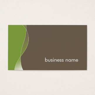 BUSINESS CARD bold modern swish green brown