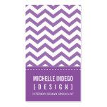 BUSINESS CARD bold trendy chevron stripes purple