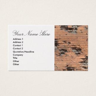 Business Card Brick Wall
