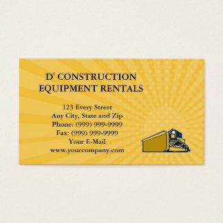 Business card Bulldozer Low Angle Retro