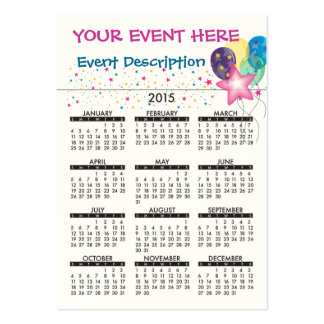 Business Card Calendar Celebrate
