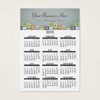 Business Card Calendar Home Sweet Home Realty