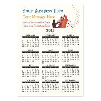 Business Card Calendar Jazz