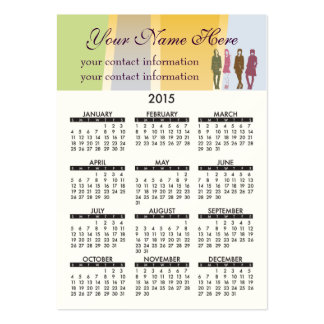 Business Card Calendar Retro Girls