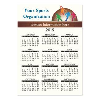 Business Card Calendar School Athletics
