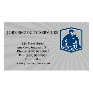 Business card Canine Policeman With Police Dog Ret