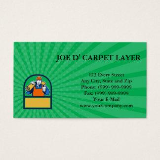 Business card Carpet Layer Carry Mat Thumbs Up Hal