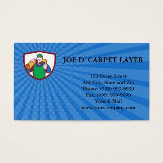 Business card Carpet Layer Carry Mat Thumbs Up Shi