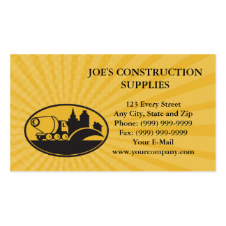 Business card Cement Truck Construction Building