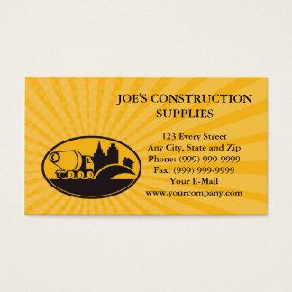 Business card Cement Truck Construction Building