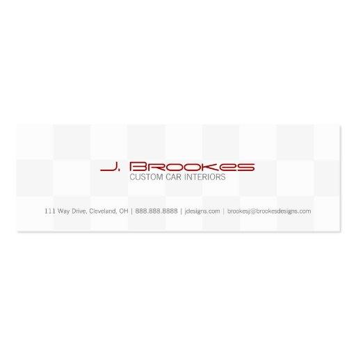 Business Card | Checkered Flag