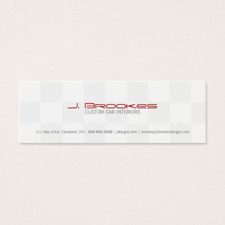 Business Card | Checkered Flag