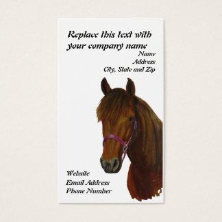 Business Card, Chichi, a Bay Paso Fino Mare Business Card
