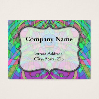 Business Card Chubby Ethnic Style