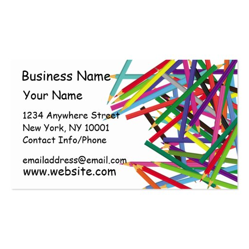 Business Card Colored Pencils 2