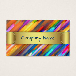 Business Card Colorful digital art splashing G391