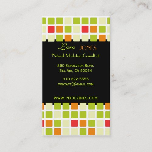 Business Card Colorful Squares