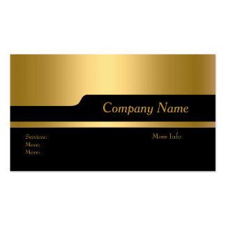 Business Card Company Elegant Black Gold Updated