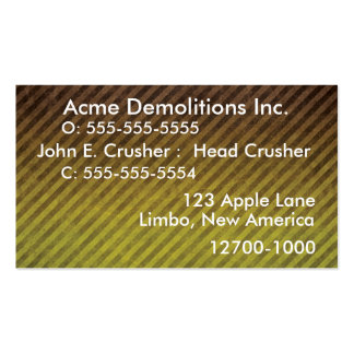 Business Card- Construction