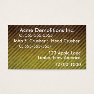 Business Card- Construction Business Card