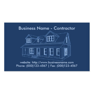 Business Card: Contractor / Construction