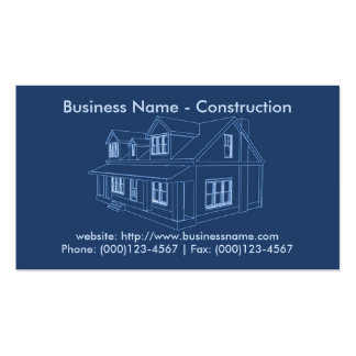 Business Card: Contractor / Construction Business Card
